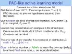 pac like selective sampling framework