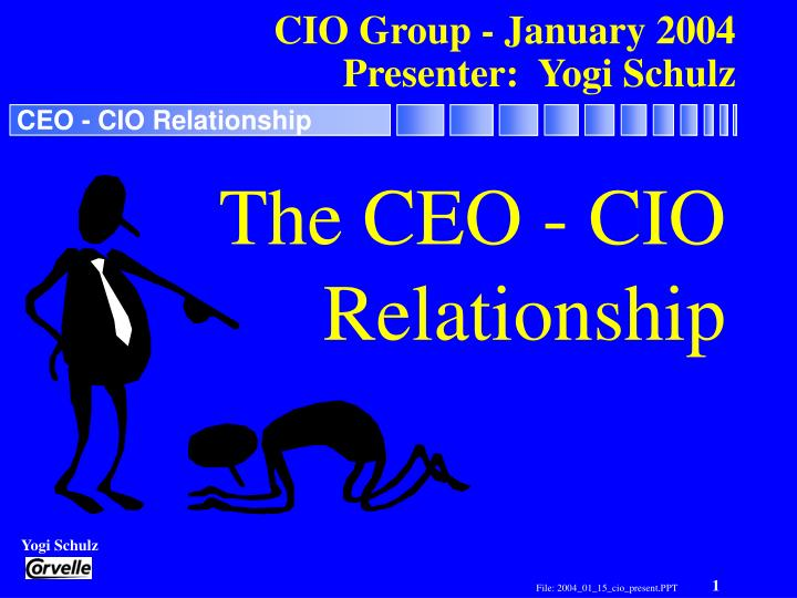 cio group january 2004 presenter yogi schulz n.