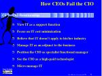 how ceos fail the cio