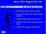 how ceos support the cio