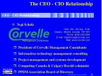 the ceo cio relationship