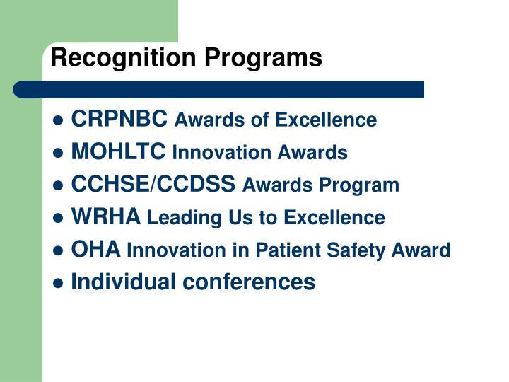 Recognition Programs