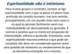 espiritualidade n o intimismo