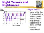 night terrors and nightmares
