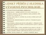 lidsk p b h z hlediska v vojov psychologie