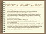 principy a hodnoty validace