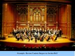 example boston cantata singers in jordan hall