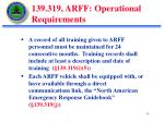 139 319 arff operational requirements2