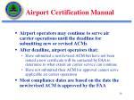 airport certification manual