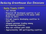 reducing greenhouse gas emissions1