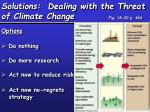 solutions dealing with the threat of climate change