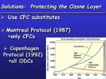 solutions protecting the ozone layer