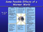 some possible effects of a warmer world1