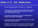 some u s co 2 reductions
