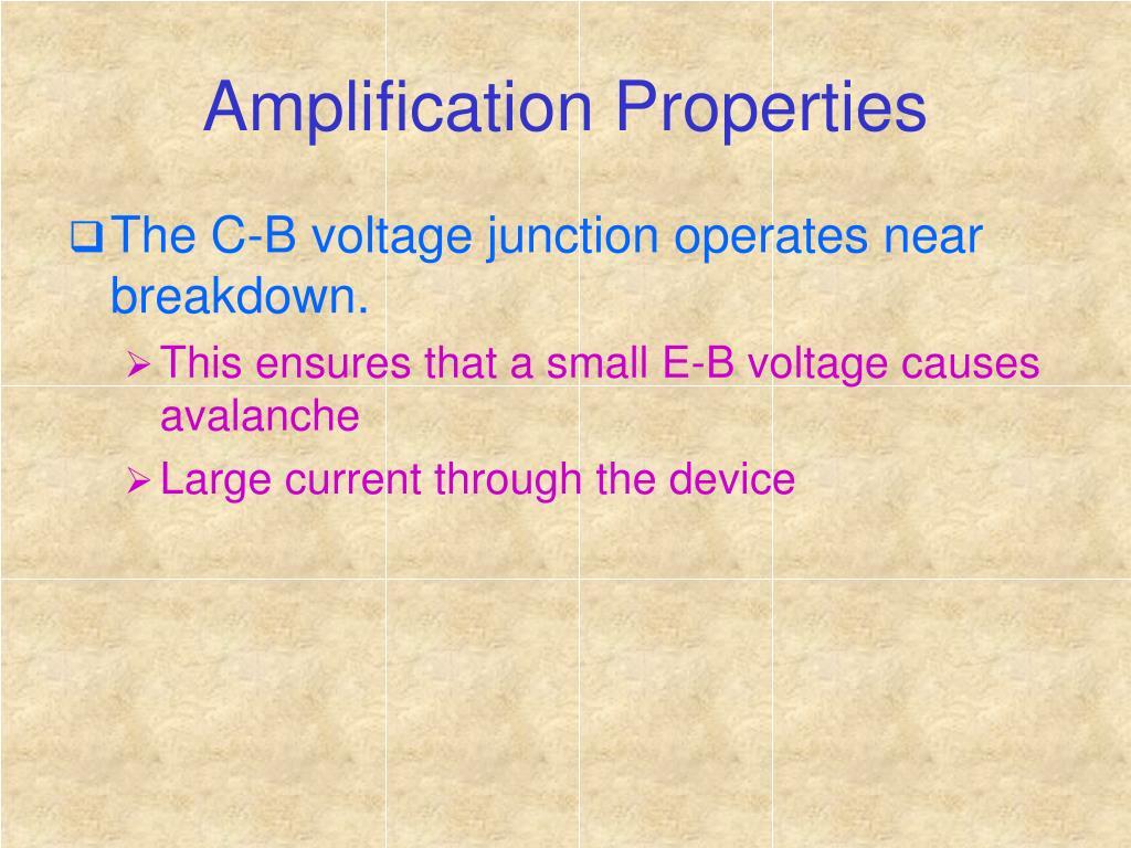 Amplification Properties