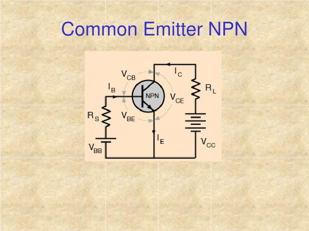 Common Emitter NPN