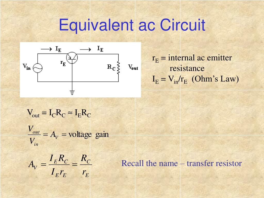 Equivalent ac Circuit
