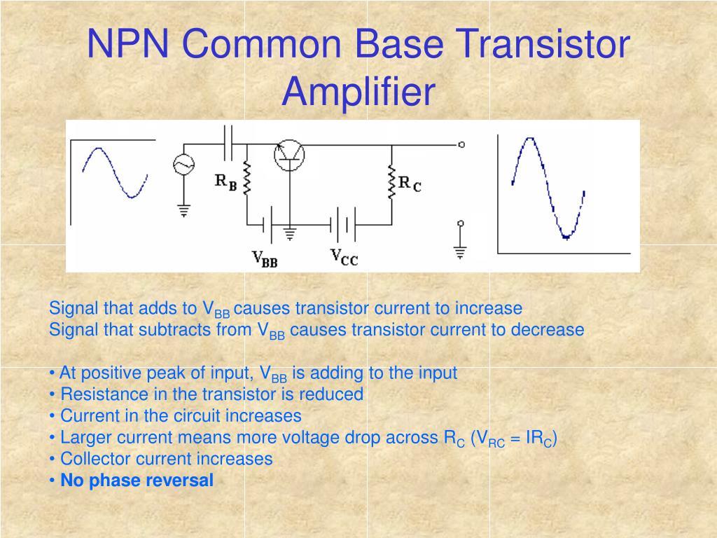 NPN Common Base Transistor Amplifier