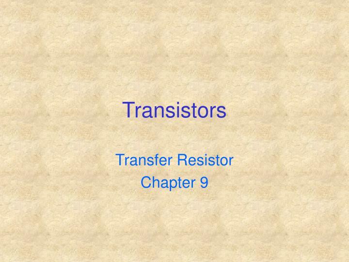 transistors n.