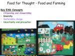 food for thought food and farming