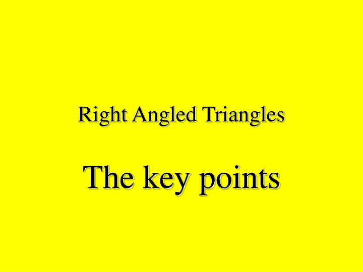 right angled triangles n.