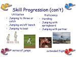 skill progression con t