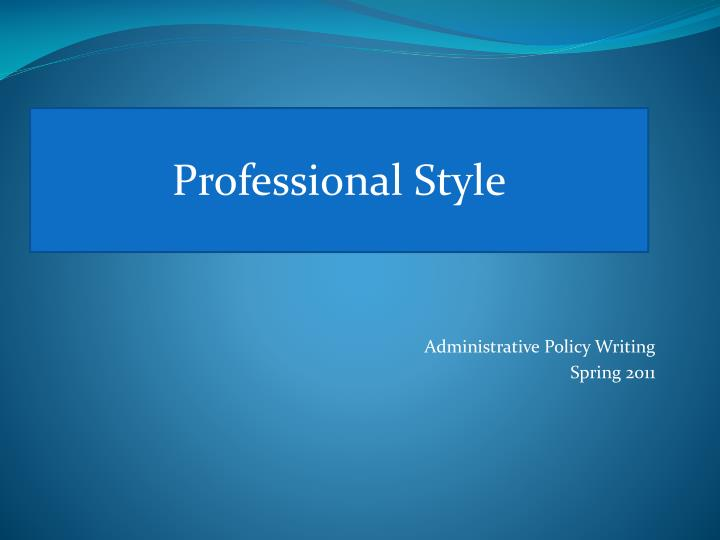 professional style n.