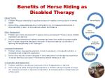 benefits of horse riding as disabled therapy