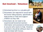 get involved volunteer