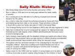 sally kluth history