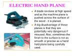 electric hand plane