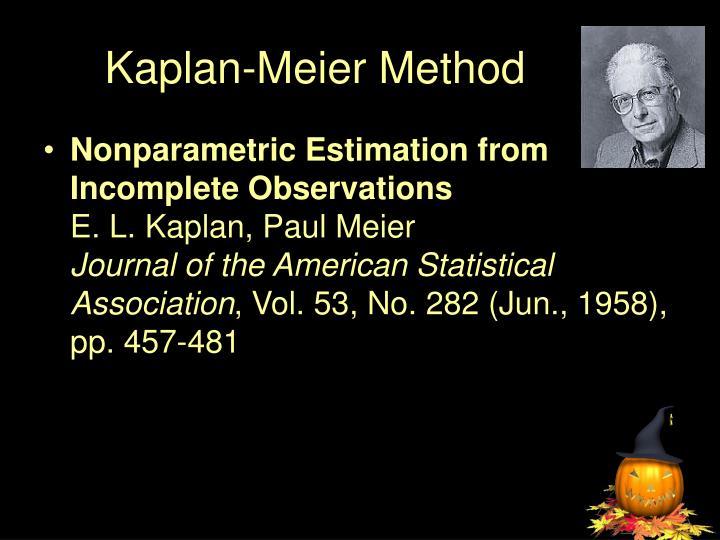 Kaplan meier method