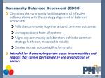 community balanced scorecard cbsc