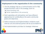 deployment in the organization the community