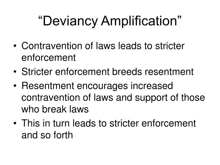 """Deviancy Amplification"""