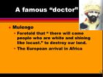 a famous doctor