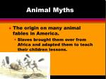 animal myths