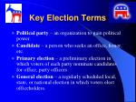 key election terms