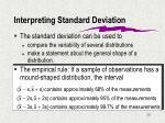 interpreting standard deviation
