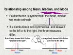 relationship among mean median and mode1