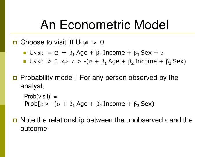 An Econometric Model