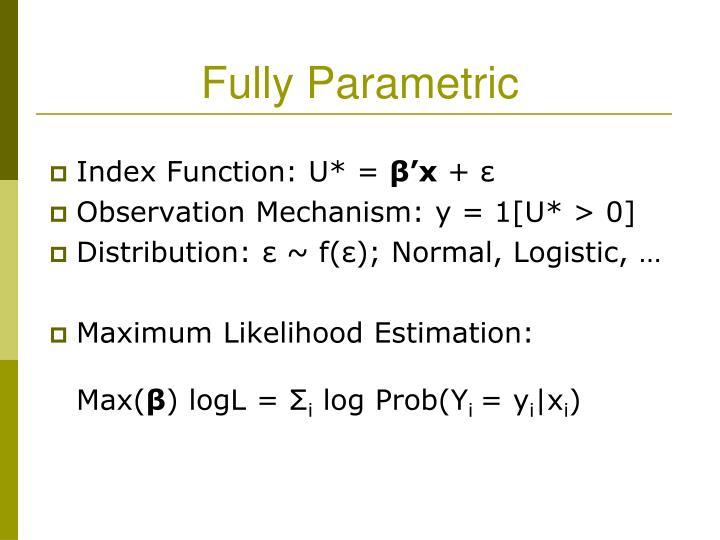 Fully Parametric