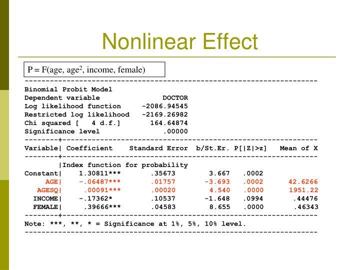 Nonlinear Effect