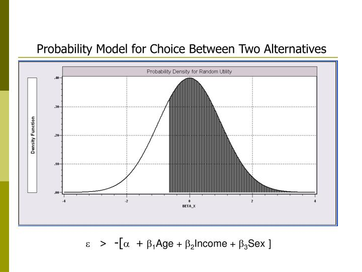 Probability Model for Choice Between Two Alternatives