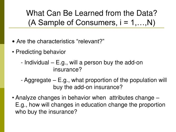 What Can Be Learned from the Data?