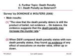 6 further topic death penalty 6 1 death penalty as deterrent