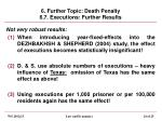 6 further topic death penalty 6 7 executions further results
