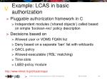 example lcas in basic authorization