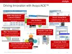 driving innovation with avaya ace
