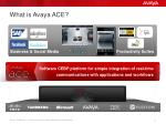 what is avaya ace